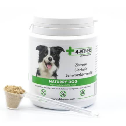 Dose 4-BEINER NATURRY-DOG für Hunde mit Zistrose (cistus incanus), Bierhefe und Schwarzkümmelöl